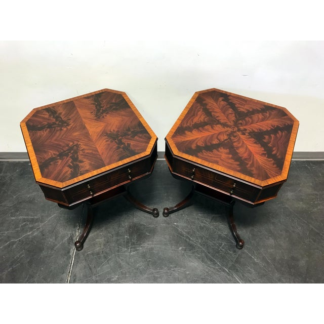 Weiman inlaid flame mahogany 2 tier end side lamp tables a pair weiman inlaid flame mahogany 2 tier end side lamp tables a pair image 4 mozeypictures Gallery