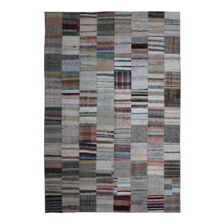 "Aara Rugs Inc. Hand Knotted Patchwork Rug - 11'5"" X 8'1"" For Sale"