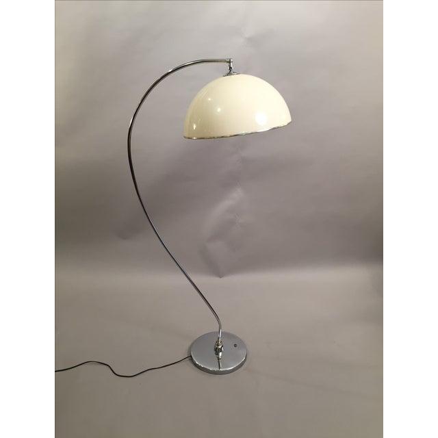 Mid-Century Floor Lamp Chrome 1970's - Image 2 of 6