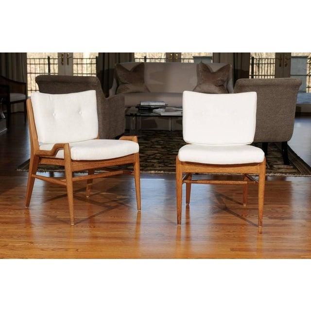 White Chic Restored Set of Eight Cerused Mahogany Dining Chairs by John Keal For Sale - Image 8 of 11