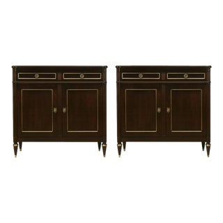 Customizable Louis XVI Style Buffets in an Ebonized Mahogany For Sale