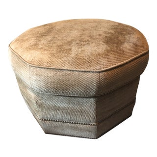 Late 20th Century Octagon Ottoman For Sale