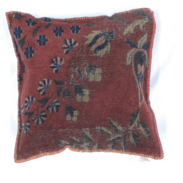 Islamic Antique Persian Rug Fragment Pillow For Sale - Image 3 of 3