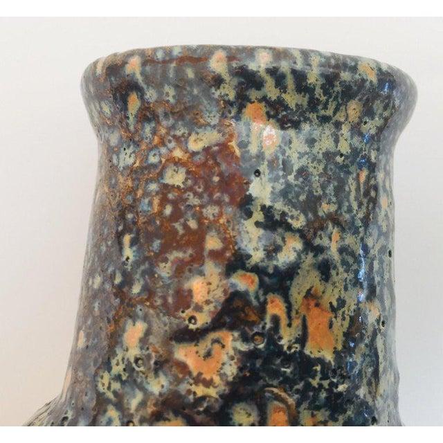 Midcentury West German Fat Lava Orange Bauhaus Vase, 1960 For Sale - Image 10 of 13