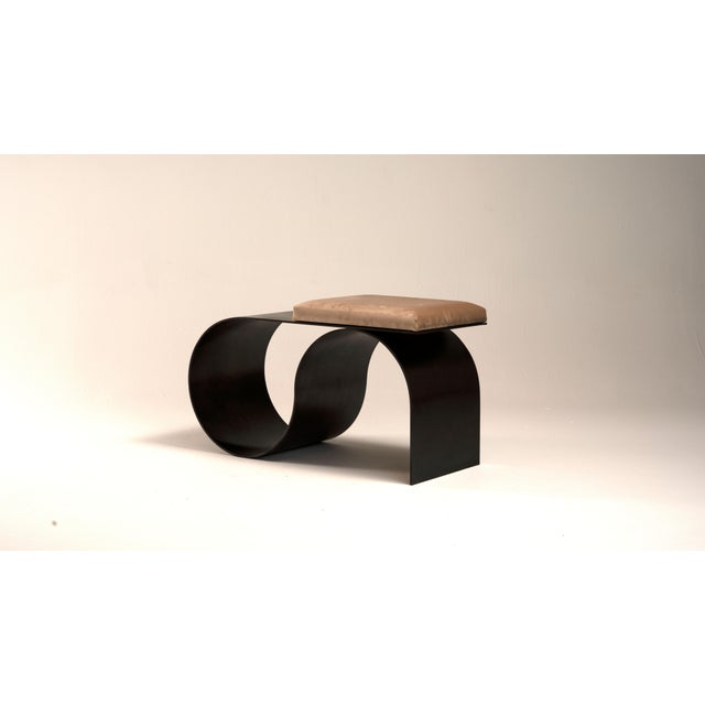 Another version of Sia bench, which is bronze-plated. Complements the Symphony Chair in the Limited Collection of Jason...