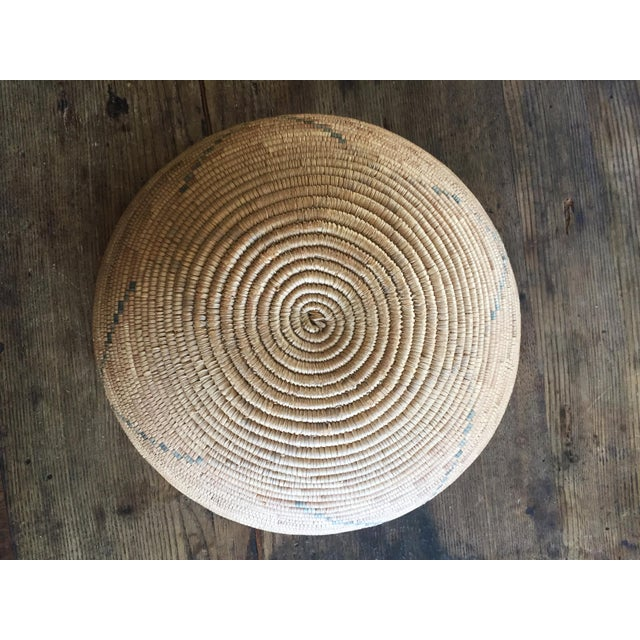 Adirondack 1950s Southwestern Coiled Indian Basket For Sale - Image 3 of 7
