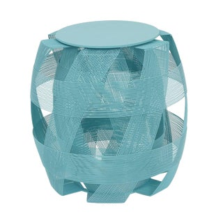 Trigono Stool, Aqua For Sale