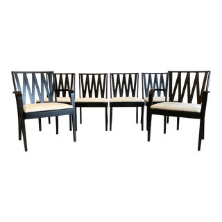Paul Frankl for Johnson Furniture Zig Zag Dining Chairs, Set of 6 For Sale