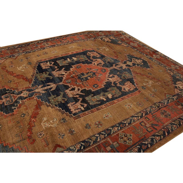 "Islamic Vintage Persian Tribal Bakshaish Rug, 8'0"" X 9'6"" For Sale - Image 3 of 12"