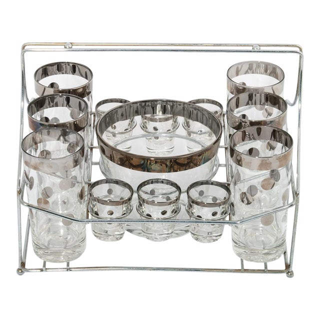 Sterling Silver Polka-Dot Pattern Glassware - Set of 13 - Image 1 of 3