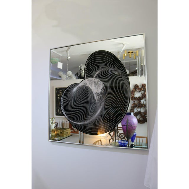 Greg Copeland Decorative Mirror Greg Copeland Style Eglomise. For Sale - Image 4 of 12