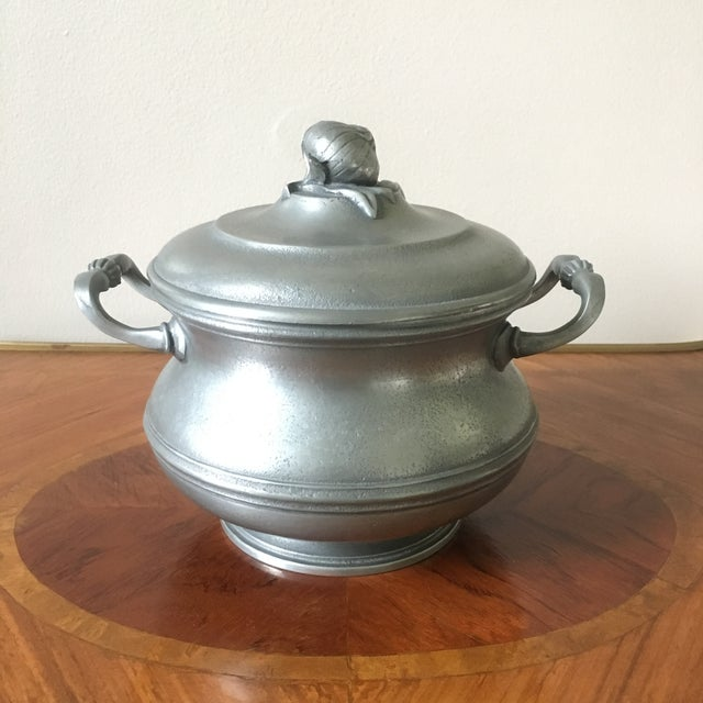 Vintage French Pewter Tureen With Onion Finial For Sale - Image 9 of 9
