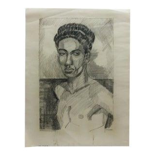 """1953 Vintage """"Black Dandy"""" Tom Sturges Jr. Drawing For Sale"""