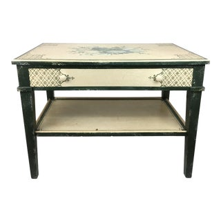20th Century English Style Wooden Side Table For Sale