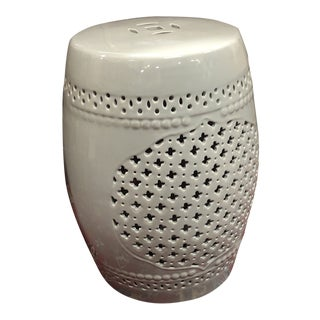 Grey Garden Stool Ceramic For Sale