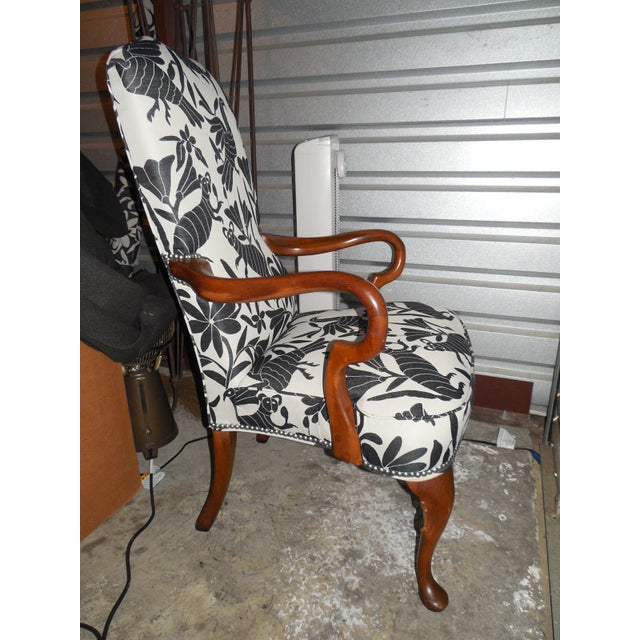 Hickory 1970's Queen Anne Otomi Armchair - Image 4 of 10