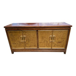 1980s Asian Thomasville Mystique Credenza With Gold Leaf For Sale