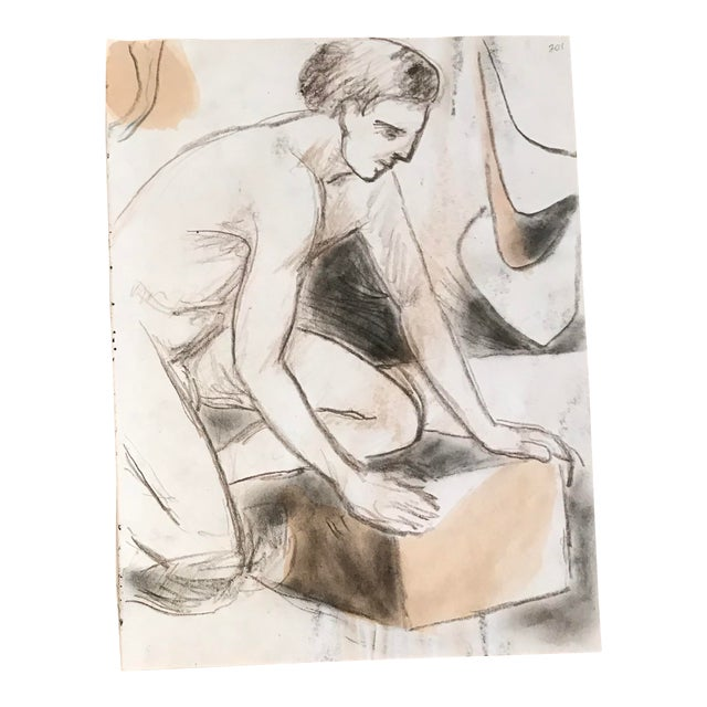 Vintage Double Sided Male Nude For Sale