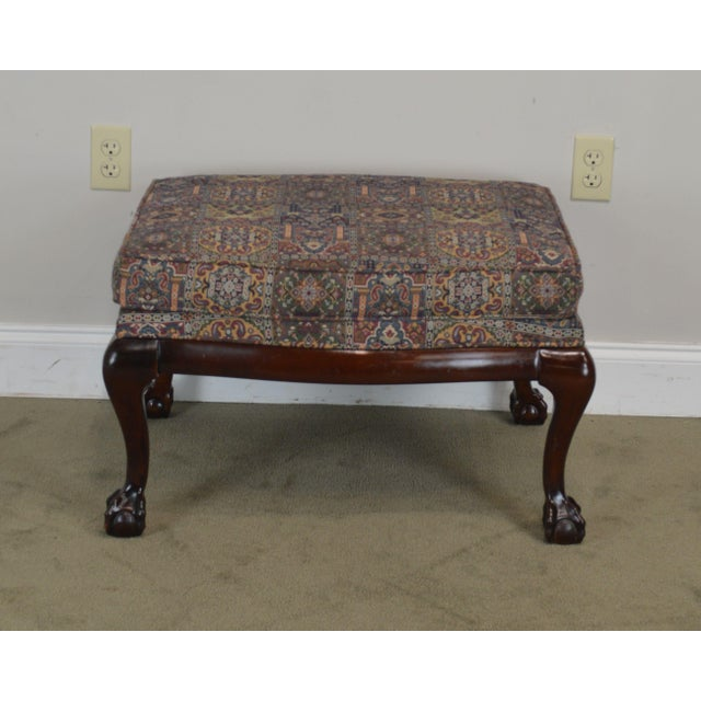 Fairington Chippendale Style Ball & Claw Foot Ottoman For Sale - Image 4 of 13