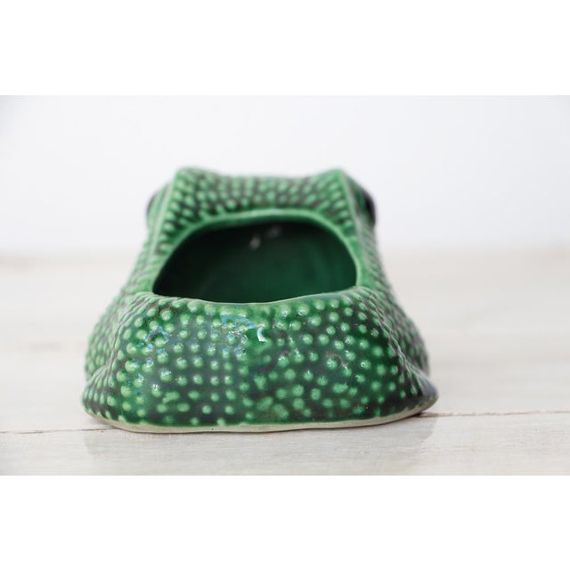 Chinese Vintage Hobnail Frog Planter in the Style of Jean Roger For Sale - Image 6 of 13