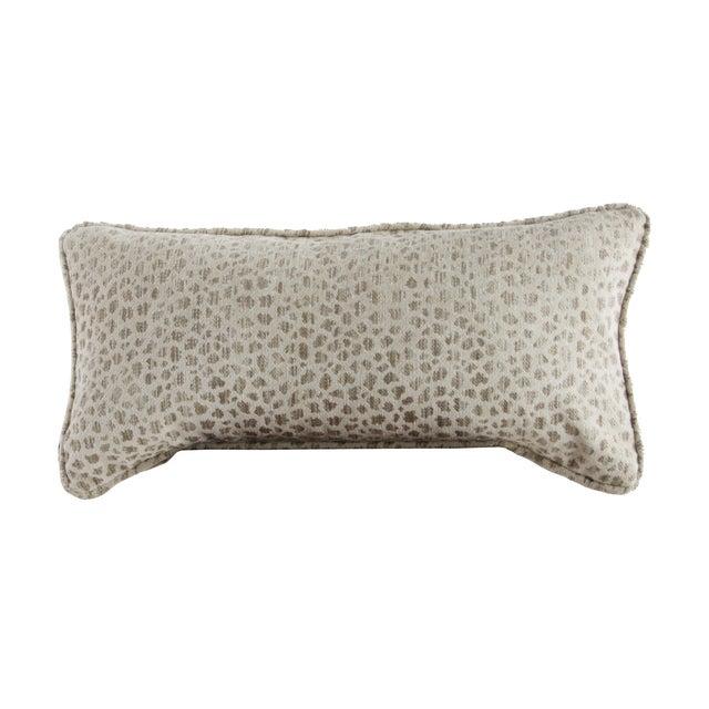 Chenille Cheetah Print Lumbar Pillow For Sale