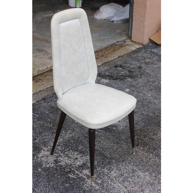 Suite of Six French Art Deco/Art Modern Solid Mahogany Dining Chairs. - Image 3 of 10