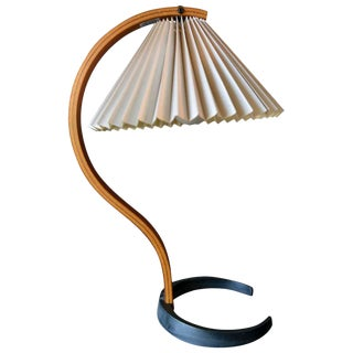 Bentwood Table Lamp by Caprani Light of Denmark, Circa 1971 For Sale