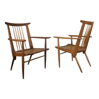 Nakashima Armchairs- A Pair For Sale