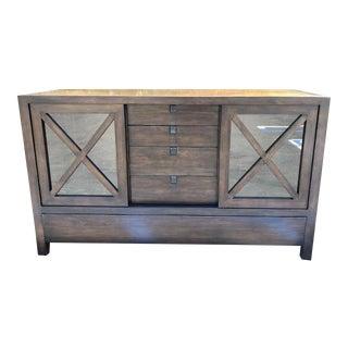 Crate & Barrel Dark Wood Credenza
