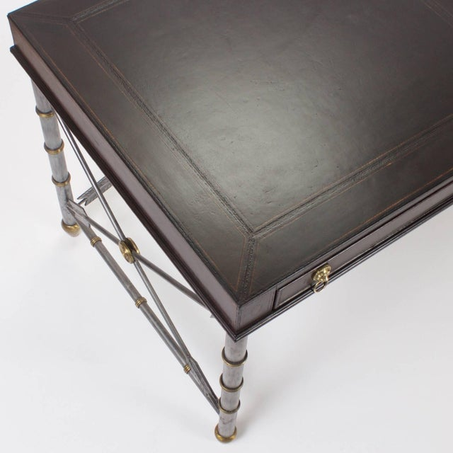 Maitland - Smith Handsome Neoclassical Style Desk or Writing Table For Sale - Image 4 of 10