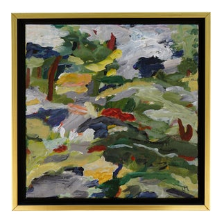 "Abstract Laurie MacMillan ""Wildland Interface"" Landscape Painting For Sale"