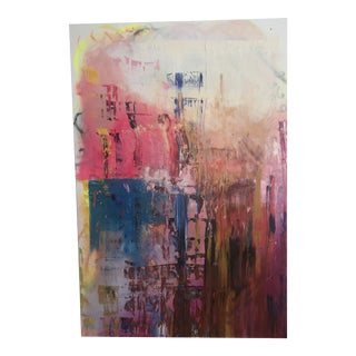 """""""Trip"""" Contemporary Abstract Oil Painting by Chamberlin Newsome For Sale"""