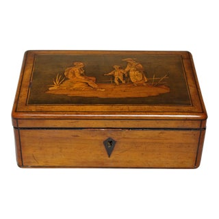 Early 19th Century Vintage Italian Olive Wood Box For Sale