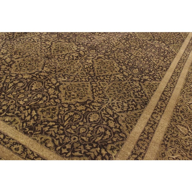 Ornament your home décor with this majestically marvelous brown rug. Exquisitely hand-knotted using the finest quality...