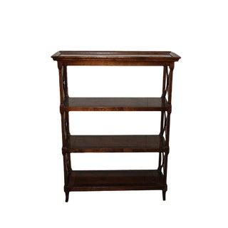 Vintage Traditional Wood Bookshelf For Sale