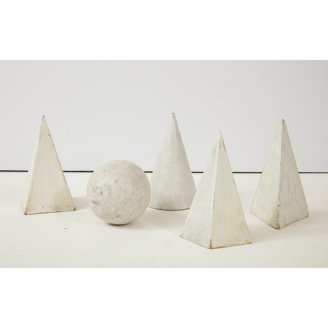 White Painted Wooden Geometric Molds - Set of 5 For Sale - Image 10 of 10