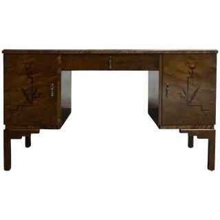 Swedish Inlaid Art Deco Executive Desk For Sale