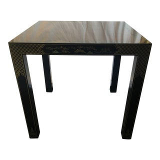 20th Century Chinoiserie Drexel Black Accent Table
