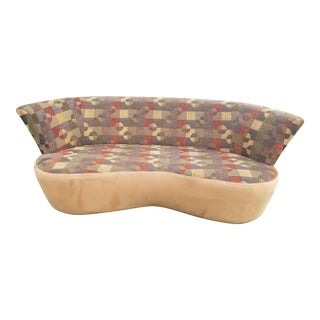 1990's Vladimir Kagan Kidney Sofa With High Back For Sale