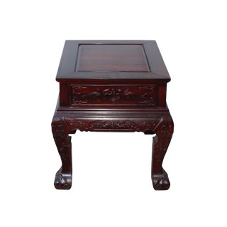 Chinese Oriental Suan Zhi Rosewood Foo Dogs Motif Tea Table Stand For Sale