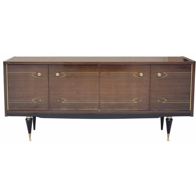 French Art Deco Macassar Ebony Buffet - Image 1 of 9