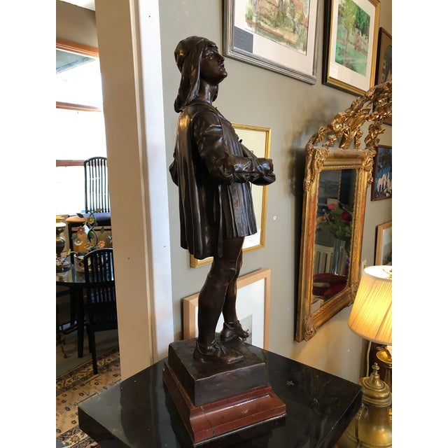 1880s Claudius Marioton The Venetian Bronze Table Top Sculpture For Sale - Image 4 of 12