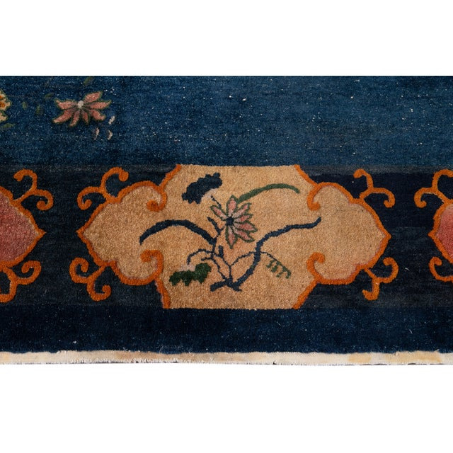 Early 20th Century Antique Art Deco Chinese Square Wool Rug 13 X 12 For Sale - Image 9 of 13