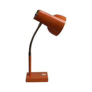 Mid-Century Orange Desk Lamp