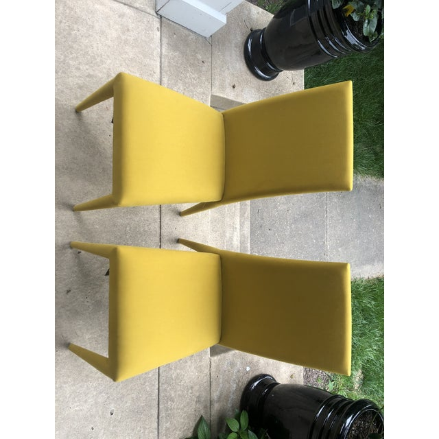 Calligaris Mustard Yellow Anais Chairs by Calligaris - a Pair For Sale - Image 4 of 7