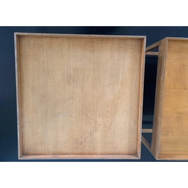 1960s Mid Century Baker Furniture Wood Side Tables - a Pair For Sale In Los Angeles - Image 6 of 7