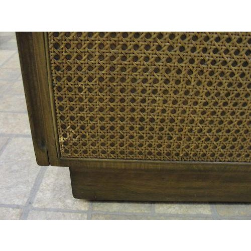 Edward Wormley Directional Danish Modern Woven Cain Dresser For Sale In Philadelphia - Image 6 of 7