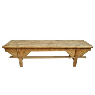 Vintage Elm Bench For Sale