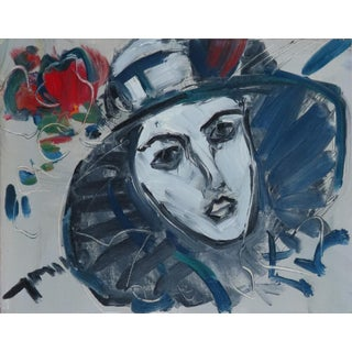 Contemporary Expressionist Style Portrait Oil Painting by Jose Trujillo For Sale