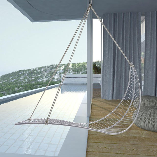 Leaf Hanging Swing Chair - White For Sale - Image 6 of 7